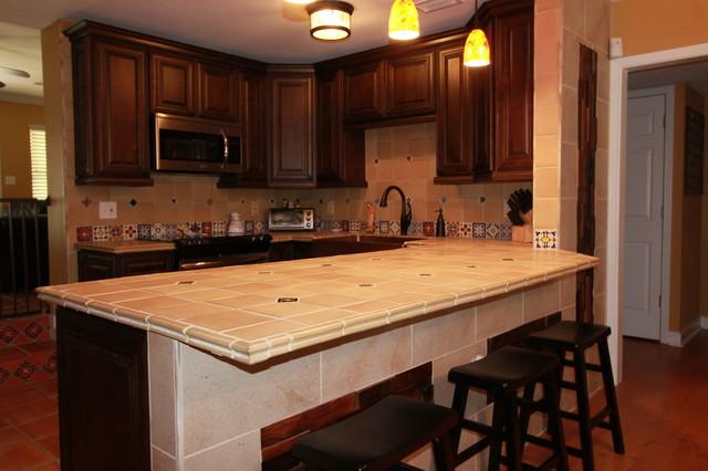 Spanish Style Kitchen Remodel Tampa, FL - Rustic - Kitchen ...