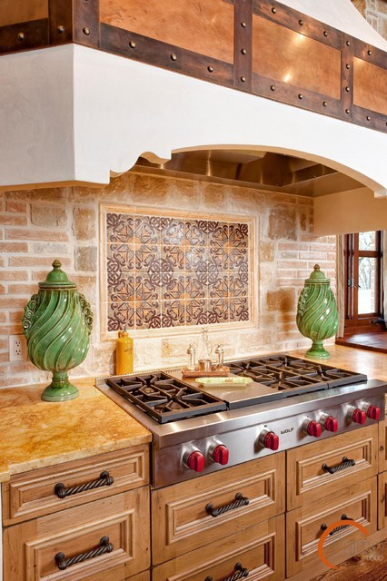 Spanish style mediterranean kitchen other metro by for Spanish style kitchen backsplash