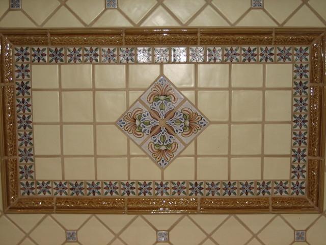 Spanish Teruel Backsplash Amp Mural Traditional Kitchen Los Angeles By Avente Tile