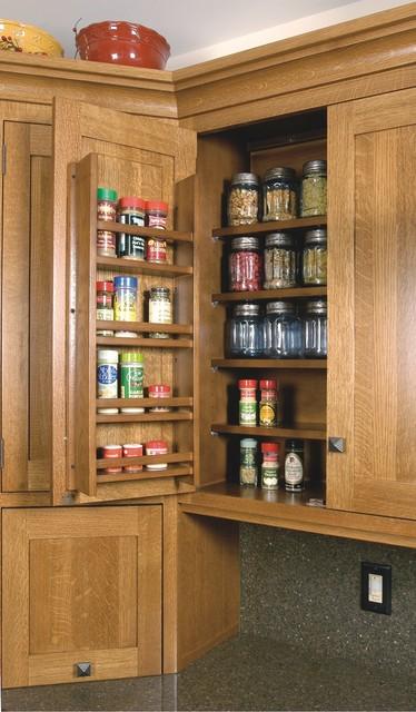 Spice Rack On Wall Cabinet Door Craftsman Kitchen