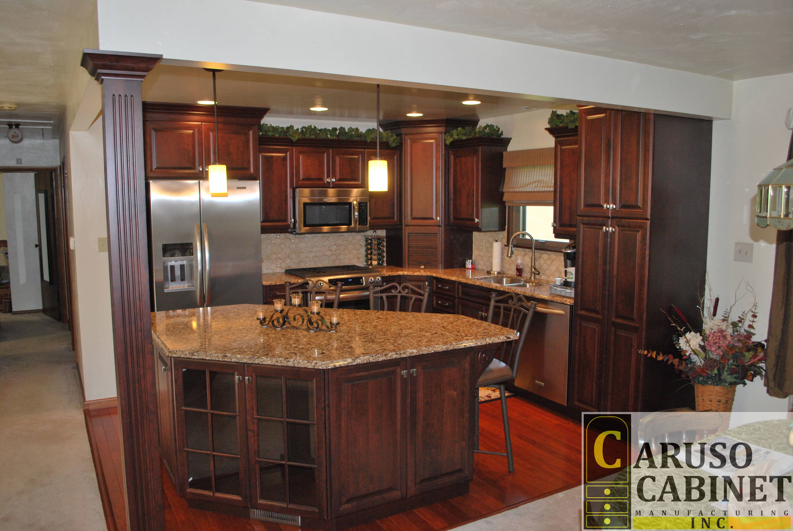 Split Entry Kitchen Remodel Traditional Kitchen Other By Caruso Cabinets Manufacturing Inc Houzz