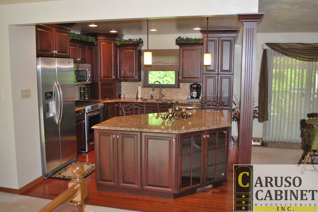 split entry kitchen remodel traditional kitchen other by caruso cabinets manufacturing inc