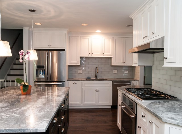 Split level renovation traditional-kitchen