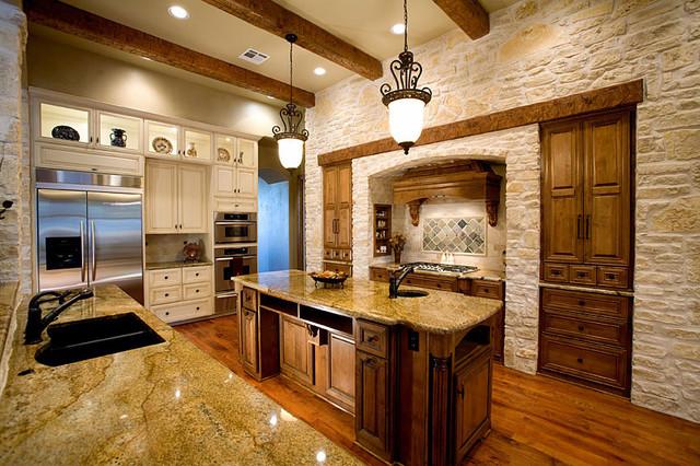 Sprawling Tuscan Ranch Mediterranean Kitchen Austin