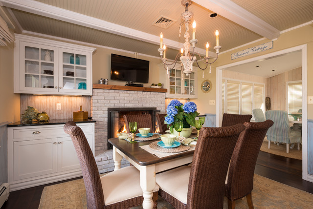 Spring lake heights beach cottage beach style kitchen for Interior designs by ria