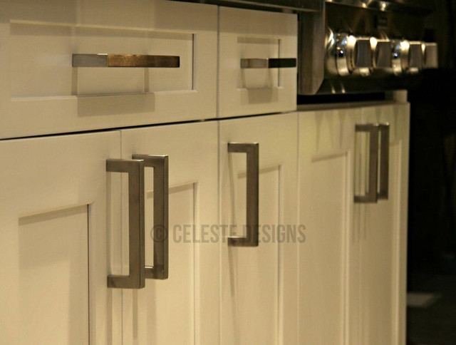 kitchen cabinet bar pulls square bar pulls by celeste designs on white cabinets 18240