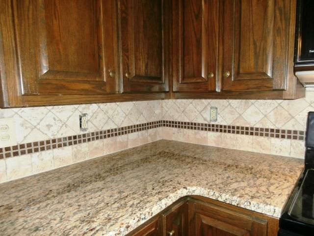 ST. CECILIA Granite on Dark Cabinets - Traditional ...