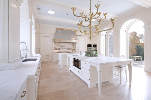 Warm white kitchen in CT