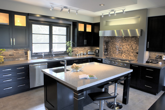 St james custom kitchen contemporary kitchen - Custom cabinet companies ...