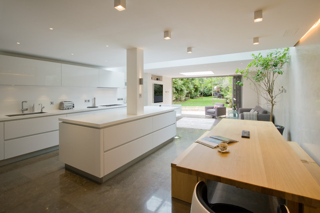 st johns wood family home, london - contemporary - kitchen