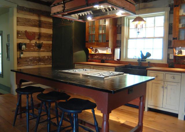 ... primitive Log Cabin Kitchen Bar Bathroom Vanities traditional-kitchen