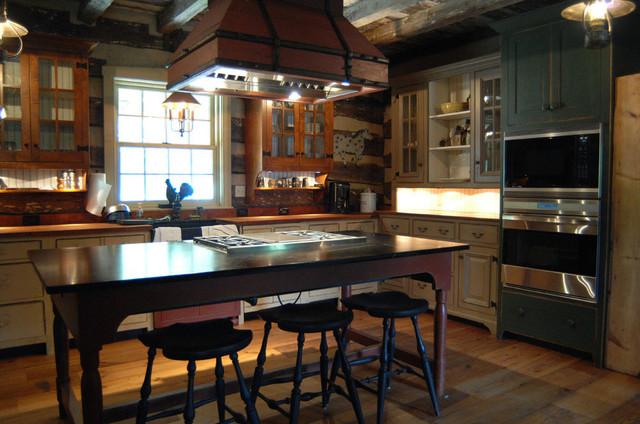 Primitive log cabin kitchen bar bathroom vanities traditional kitchen