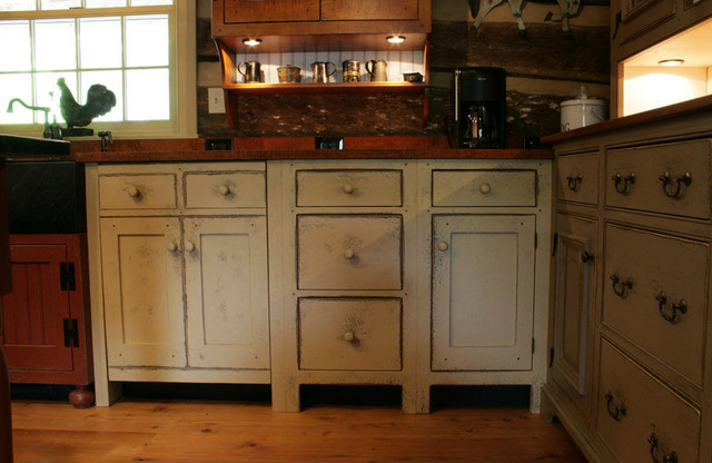 St. Louis 10 primitive Log Cabin Kitchen Bar Bathroom Vanities - Traditional - Kitchen ...