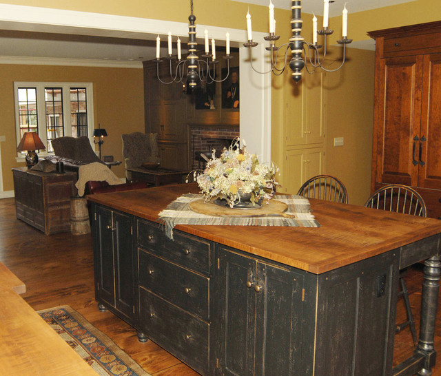 st louis black cherry and curly maple kitchen