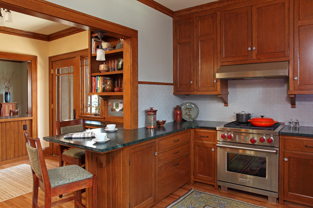 St. Paul Bungalow Remodel - Craftsman - Kitchen - Minneapolis - by David Heide Design Studio