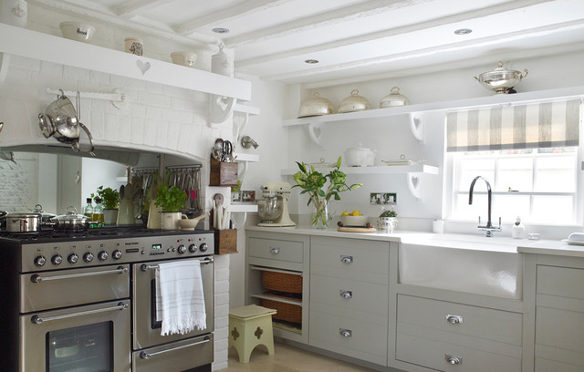 Stable Cottage Shabby Chic Style Kitchen Berkshire By Jess Weeks Interiors