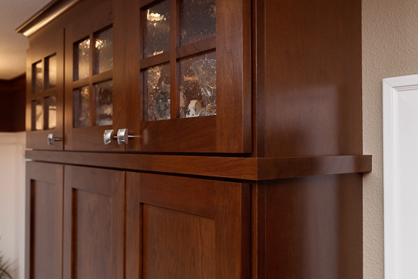 Stacked Cabinets with Glass Inserts - Traditional ...