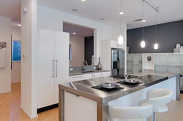 Staged to sell contemporary dallas condo contemporary for Modern kitchen design dallas