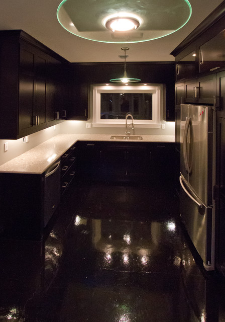 stained concrete floors kitchen
