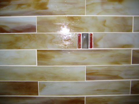 stained glass backsplash modern kitchen