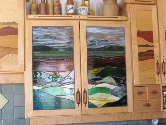 Stained glass cupboard door