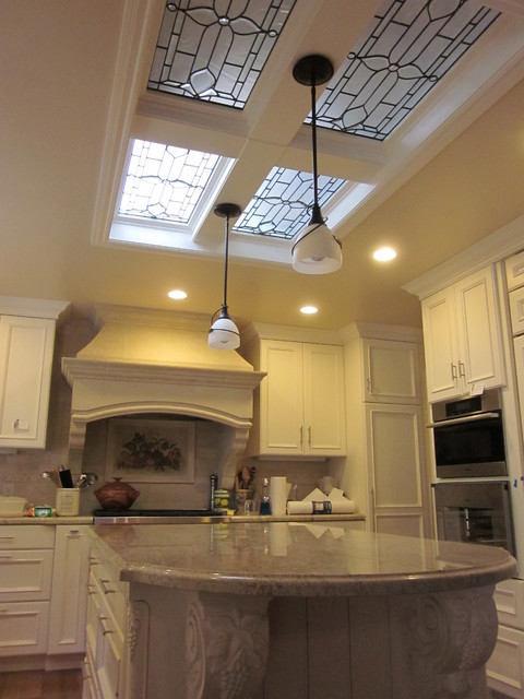 Stained Glass Skylights traditional-kitchen