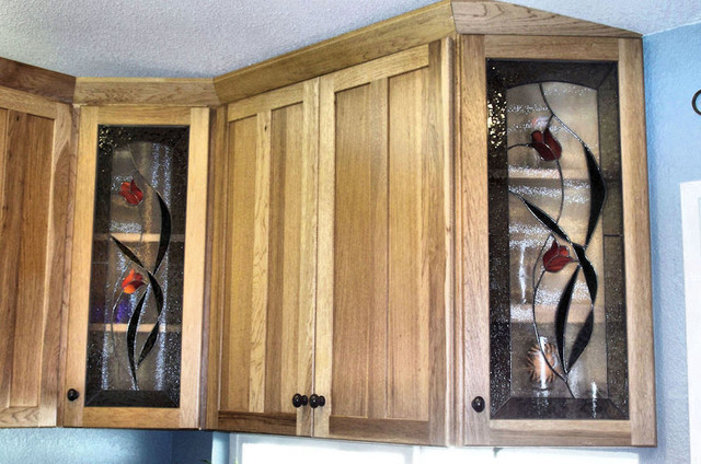 Stained Glass Tulip Panels - Plonski Residence - Contemporary ...