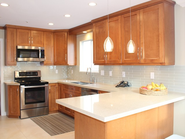 Stained Kitchen Cabinets traditional-kitchen
