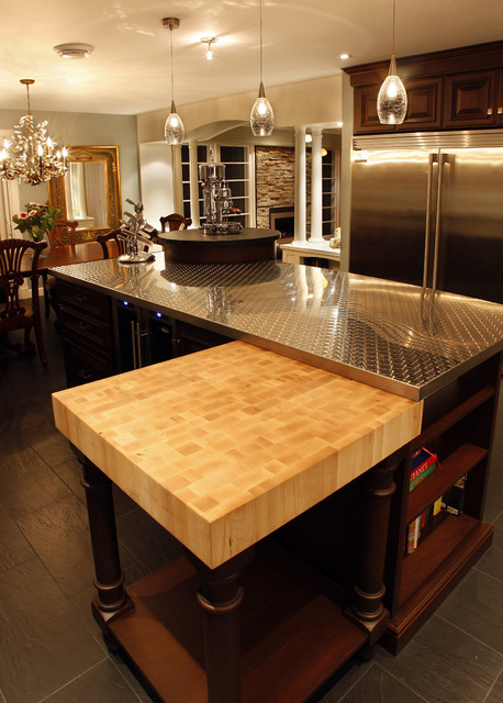 Stainless-Soapstone Kitchen eclectic-kitchen