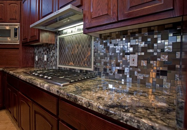 stainless steel backsplash 2 modern kitchen - Kitchen Metal Backsplash