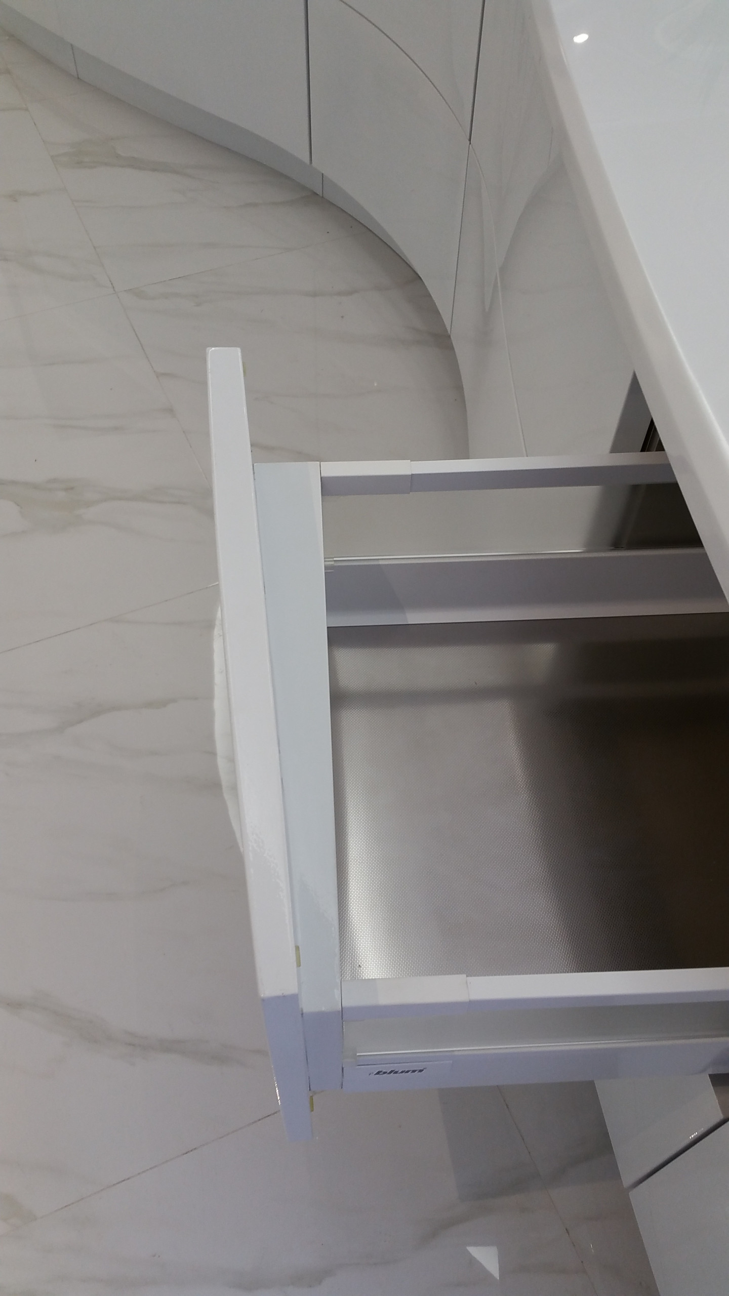 Stainless Steel cabinetry with electroplated finish