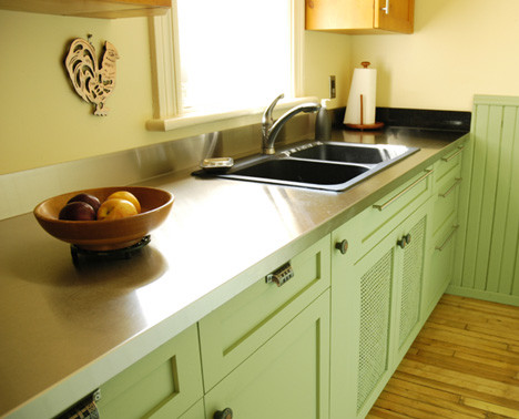 Stainless Steel Countertop By Ridalco Traditional Kitchen
