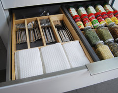 Stainless Steel Drawers and Roll-Out Shelves from Dura Supreme contemporary kitchen