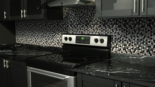 Stainless Steel Glass Tile Penny Round Modern Kitchen Miami By Mineral Tiles