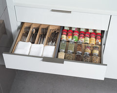 Stainless Steel Kitchen Utensil Drawers from Dura Supreme contemporary-kitchen