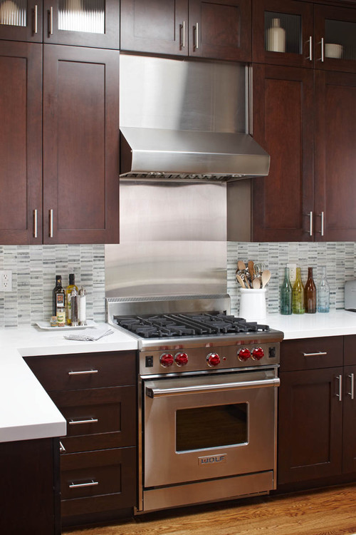 Stainless backsplash Kitchen backsplash ideas stainless steel