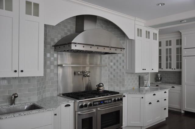 Stainless Steel Range Hood - Brooks Custom contemporary-kitchen
