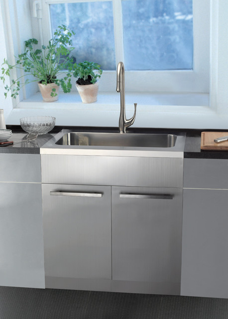 Stainless Steel Sink Base Cabinets Kitchen San Francisco