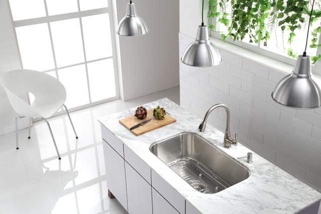 stainless steel undermount kitchen sinks contemporary kitchen new york by kraus usa inc. Black Bedroom Furniture Sets. Home Design Ideas