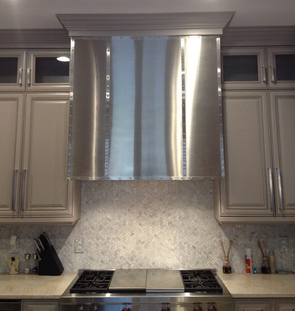Stainless Steel Vent Hood Cladding Contemporary Kitchen