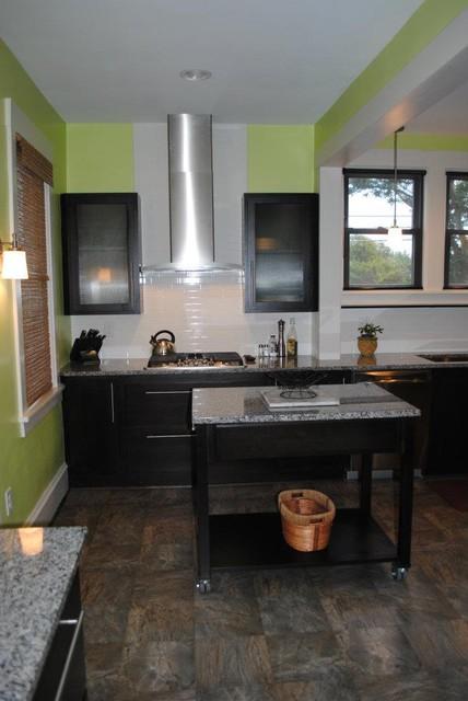 Starmark Alder Java Cabinets, Caledonia Granite Tops ...