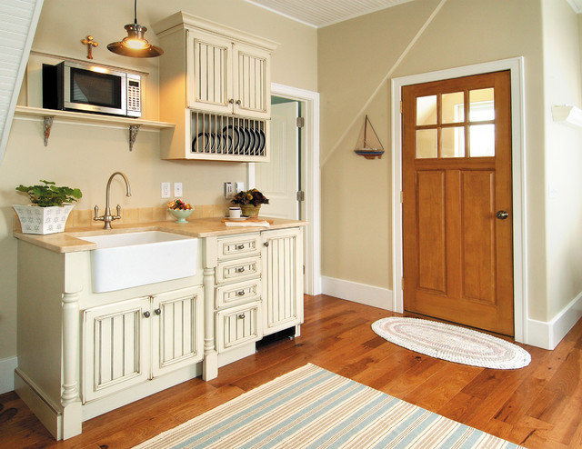 ... Cabinetry Kitchen in Heritage door style in Maple farmhouse-kitchen
