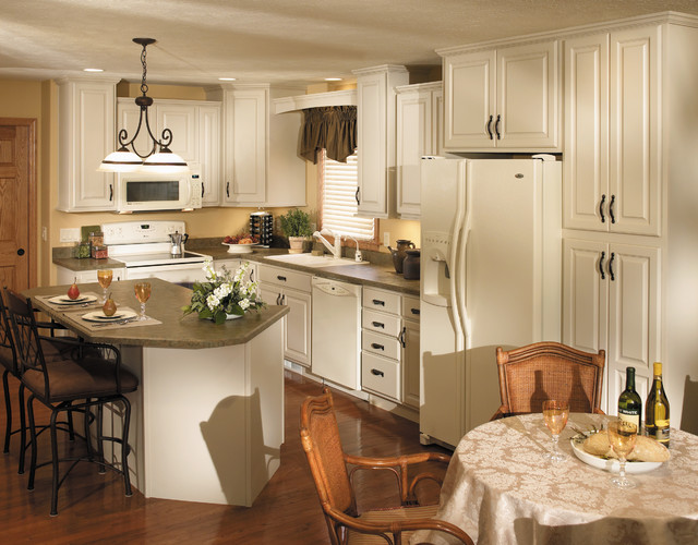 StarMark Cabinetry Kitchen in Maple finished in Mushroom - Traditional - Kitchen - Other - by ...