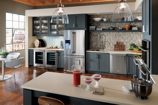 StarMark Cabinetry Kitchen with Gray Cabinets  Traditional  Kitchen