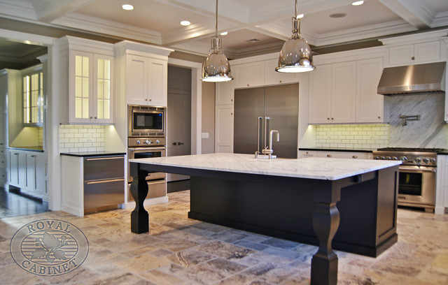 State of the Art White Transitional with Stainless Steel transitional-kitchen