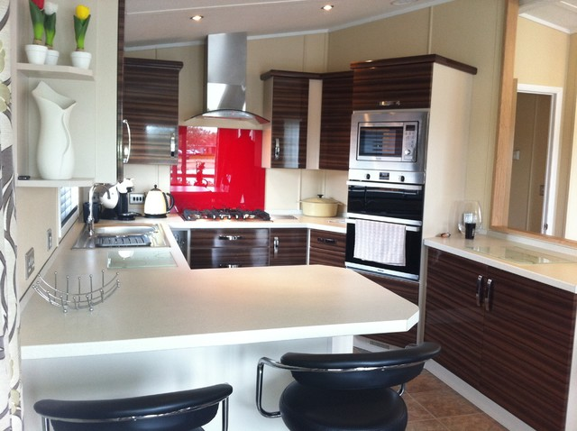 Static Caravan Kitchen - Modern - Kitchen - south west - by Julie Sheldon