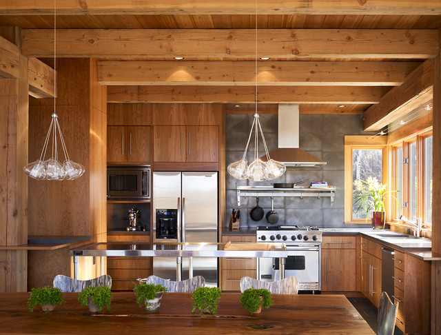 Steamboat Springs Residences rustic-kitchen