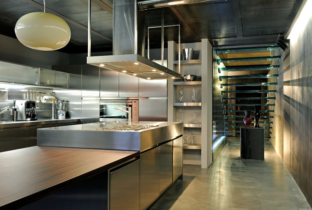 steel kitchen contemporary kitchen