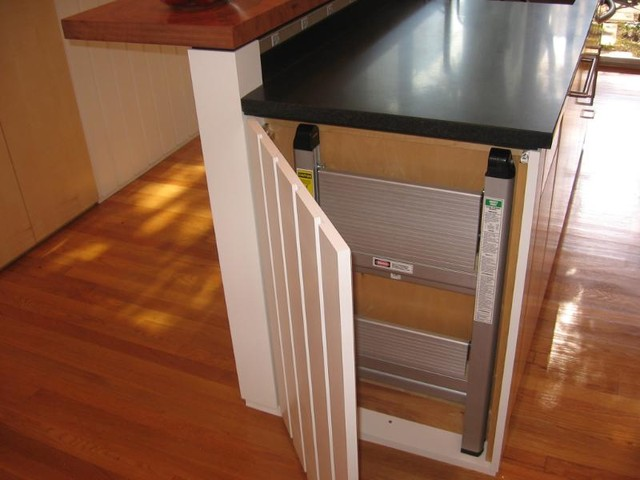 Admirable Step Stool Hiding Traditional Kitchen Other By Caraccident5 Cool Chair Designs And Ideas Caraccident5Info