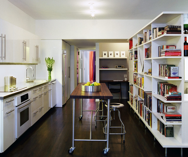 Sterling apartment modern kitchen new york by leone design studio Leon house kitchen design